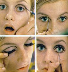 Twiggy and her iconic lashes.