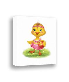 Canvas Art Print Girls Wall Art Cute Duckling by PinwheelCanvasArt