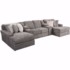 You'll love the stylish Mammoth 5 Piece Sectional with LAF and RAF Chaise by Jackson Furniture / Catnapper. Big selection, small prices prices on stylish sectionals! Available online or in store. Sectional Sofa With Chaise, Living Room Sectional, Living Room Furniture, Home Furniture, Living Room Decor, Wooden Furniture, Antique Furniture, Furniture Design, Sofa Design