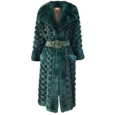 Christian Dior Rare Vintage Forest Green Mink/Leather basketweave... ($4,250) ❤ liked on Polyvore featuring outerwear, coats, fur, vintage mink fur coat, vintage leather coats, mink fur coat, leather coat and christian dior