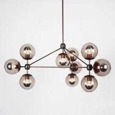 Modo chandelier in Bronze / smoke glass Y LightingDIAISMTJANNACQUIRE UNDERSTANDINGDIArTRAVeLatElIEr dIa