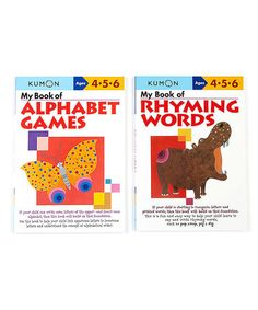 My Book of Rhyming Words & Alphabet Games Workbook Set #zulily #zulilyfinds