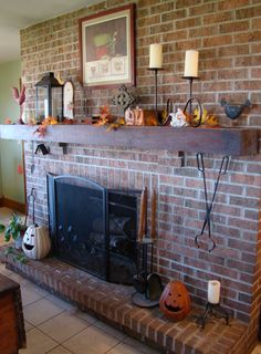 Plaster fireplace with floating timber mantel   Fireplace Ideas ...