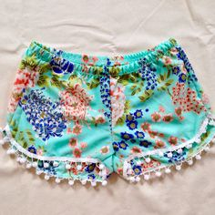A personal favorite from my Etsy shop https://www.etsy.com/listing/229290414/pom-pom-shorts-boho-chic-beach-shorts