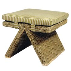 Exterior Footstool from Walters Wicker Exterior Collection.