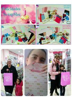 Aquí las ganadoras de los sorteos del aniversario de Scrapshu en tienda, facebook y twitter!!! Parece que ninguna se esperaba ser la ganadora!!! Enhorabuena chicas!!!! proximamente mas sorpresitas!!! #scrapshu #scrapbook #scrapbooking #scrap #sorteoscrapshu #aniversarioscrapshu #sorteo