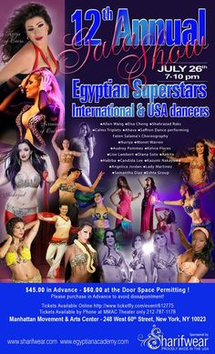 12th Annual Egyptian Gala this Sat July 26 2014  with Soroya of Cairo & Aziza of Cairo and International Guests from around the Globe!  Everybody Yallah !!!! www.egyptianacademy.com