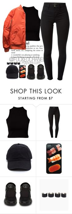 """• INSPIRED BY GOT7 FLY M/V •"" by fuckedchanel ❤ liked on Polyvore featuring River Island, J Brand and Maison Margiela"