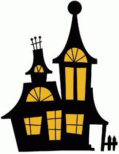 halloween haunted house die cut silhouette haunted mansion rh pinterest com