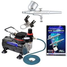 Master Airbrush Multi-purpose Gravity Feed Dual-action Airbrush Kit with 6 Foot Hose and a Powerful Single Piston Quiet Air Compressor Price Arts And Crafts Supplies, Hobbies And Crafts, Quiet Air Compressor, Air Pressure Gauge, Airbrush Supplies, Hobby Tools, Air Brush Painting, Thing 1, W 6