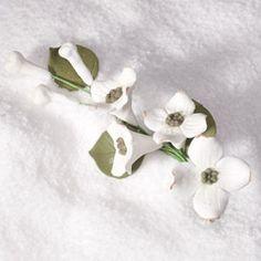 "Gumpaste Sugar Flowers - 4-1/2"" Dogwood Spray Filler Cake Topper"