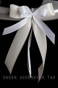 SCH0077+25+Antennenschleifen+Autoschleife+Hochzeit+von+unser+schönster+Tag+auf+DaWanda.com