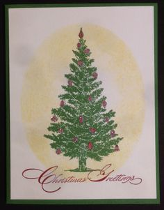 Here's a super easy Christmas card made with the Special Season stamp set from Stampin Up
