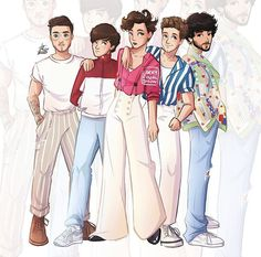 Arte One Direction, One Direction Fan Art, One Direction Drawings, One Direction Cartoons, One Direction Images, One Direction Wallpaper, Direction Quotes, Imprimibles One Direction, Desenhos One Direction