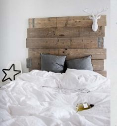 Reclaimed wood head board
