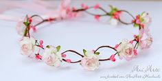 Hey, I found this really awesome Etsy listing at https://www.etsy.com/listing/150818895/pink-boho-hair-wreath-flower-garland