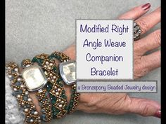 Companion Bracelet - YouTube Diy Jewelry Tutorials, Beading Tutorials, Beaded Bracelet Patterns, Beaded Bracelets, Beaded Earrings, Beaded Watches, Beaded Jewelry Designs, Bracelet Tutorial, Tutorials