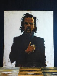 Nick Cave portrait Oil Painting original on fibreboard 117 X 103 cm by FruitOnFurniture on Etsy