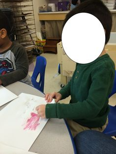 We painted with cranberries!