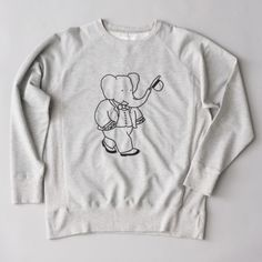 At last. Someone has the decency to put Jean de Brunhoff's Babar on clothes for grown-ups. It's a capsule collection by Danish brand Soulland.