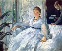 Edouard Manet, Madame Manet y León, La lectura, entre 1848 y 1883,óleo sobre lienzo, 61 × 73 cm, Museo d'Orsay