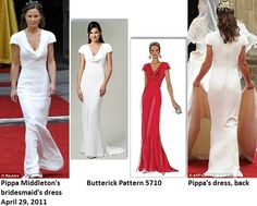 Butterick 5710, based on Pippa Middleton's bridesmaid dress for Kate & Prince William's wedding, April 29, 2011