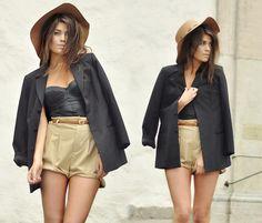 Top + shorts alfaiataria