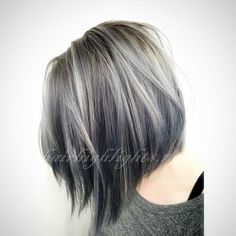 Grey Highlights In Dark Brown Hair 35 smoky and sophisticated ash brown hair color looks 564 X 564 pixels Winter Hairstyles, Cool Hairstyles, Hairstyles 2016, Hairstyle Ideas, Grey Bob Hairstyles, Grey Hairstyle, Roman Hairstyles, Decent Hairstyle, Style Hairstyle
