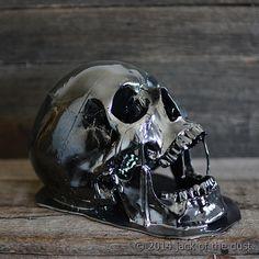 DIY: skull without big seam across forhead. spray paint. $270 vs like $35