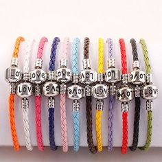 10 Easy To Use Colorful Leather Euro Bracelets . Starting at $1 on Tophatter.com!