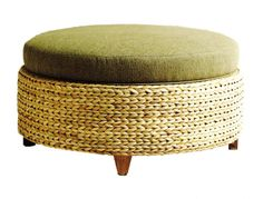 Round Coffee Tables | Ottoman, Oval, Leather, Marble, & Wood -  round seagrass coffee table