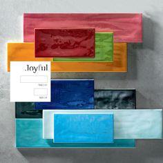 Tonalite collezione Joyful 40, 10x40 e Joyful 20, 10x20, colori lucidi su superficie strutturata. Tiles, piastrelle, ceramiche, ceramica, walltiles, floortiles, rivestimento, pavimento, herringbone, posa incrociata