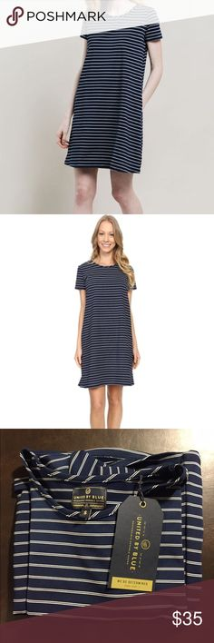 United by Blue Hyde Swing Dress SALE TONIGHT ONLY Adorable Navy/white swing dress by United by Blue. Made of 95% recycled water bottles and 5% spandex. Length is designed to hit right above the knee. Made in the USA! United by Blue Dresses