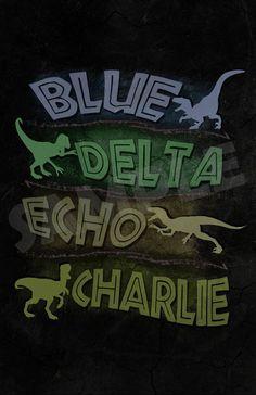 jurassic world velociraptor names - Google Search