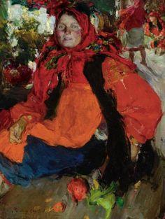 Abram Efimovich Arkhipov (Russian artist, 1862-1930) Russian Peasant Girl