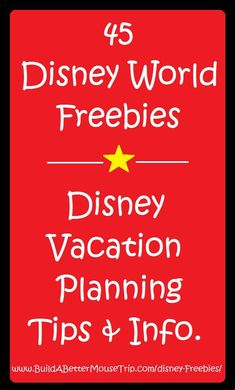 Disney World Tips & Tricks / Receive a list of 45 Great Free Things at Disney World and printable vacation planning e-guides when you subscribe to our free Disney-focused e-newsletter.