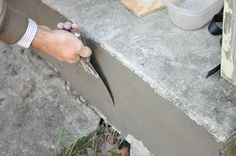 How to repair cracked concrete for front steps
