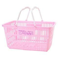 Shopping Basket ★Little Twin Stars★ Little Twin Stars, Little Girls, Sanrio Shop, Grocery Basket, Japanese Shop, Shopping Service, Kawaii Accessories, Sanrio Characters, Sanrio Hello Kitty