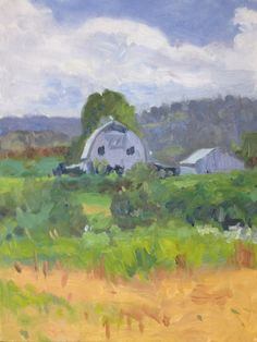 William E. Elston, Study for Snohomish Valley, oil on panel, 9 x 12 inches, copyright ©2012