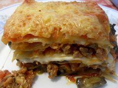 Paprika En La Cocina: Lasaña ( lasagne) de berenjena, butifarra y mozzarella fresca