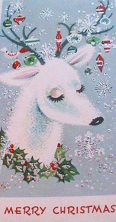 Vintage Reindeer Card