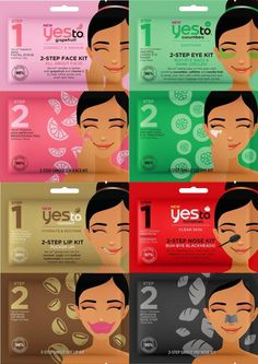 Yes To 2-Step Masks are now available for Spring 2017 in a range of different formulas to treat dark circles, dry lips, black heads, and more. Each mask is