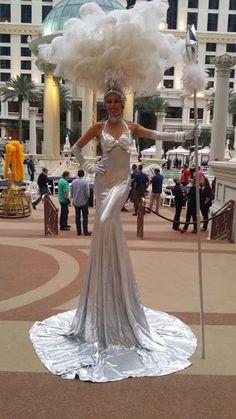Glamazon Towering Showgirl, Premier Showgirls in Las Vegas.