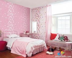 Kız Çocuk Yatak Odası Duvar Kağıdı