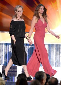 Meryl Streep with Julia Roberts SAGS