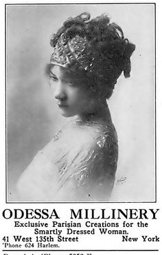 Odessa Milinery - January, 1913