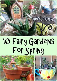 10 Fairy Gardens for Spring - Carmen Whitehead Designs You are in the right place about Gardening Supplies storage Here we offer you the most beautiful pictures about the Gardening Sup My Fairy Garden, Gnome Garden, Fairy Gardening, Fairies Garden, Container Gardening, Planter Garden, Garden Fun, Dream Garden, Gardening Tips