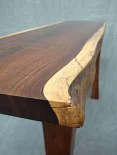 Hall Table Cocobolo Slab Top And Black Walnut Base