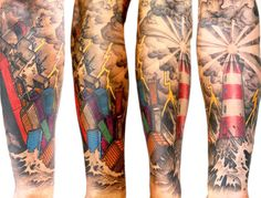 Realism Nautical Tattoo by Delaine NEO Gilma