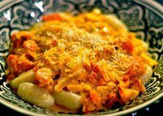 gnocchi with tomato basil cream sauce